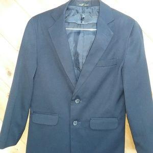 VanHeusen Boys Navy Blue Dress Jacket Size 10R